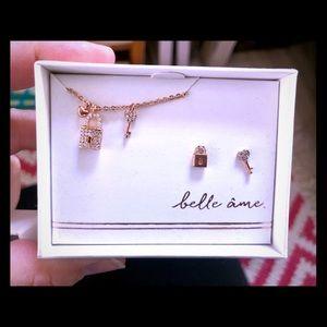 Rose Gold Lock & Key Set